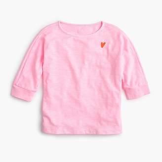 J.Crew Girls' midsleeve T-shirt with tiny heart