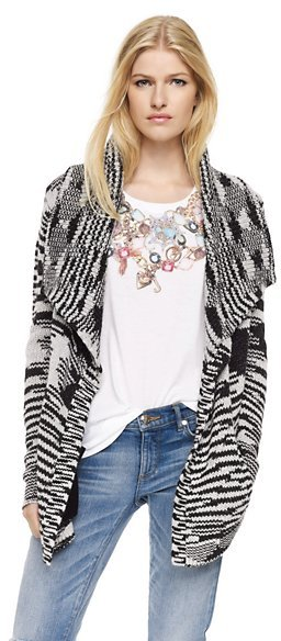 Juicy Couture Space Dye Draped Cardigan