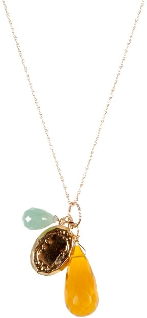 Katharine Sise Tobi Citrine and Locket Necklace--Exclusive!