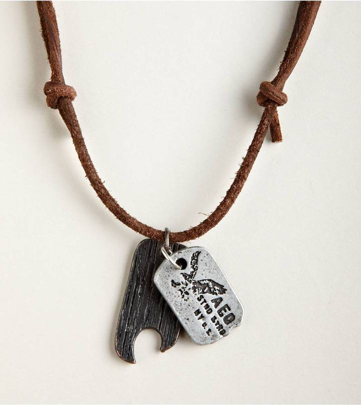 American Eagle AEO Tags Necklace Style: 0224-6214 | Color: 200