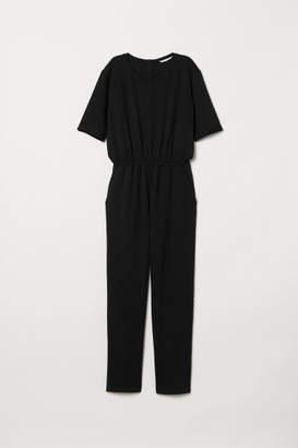 H&M Short-sleeved Jumpsuit - Black