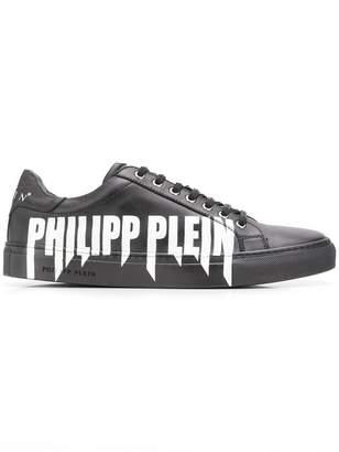 Philipp Plein logo print low tops