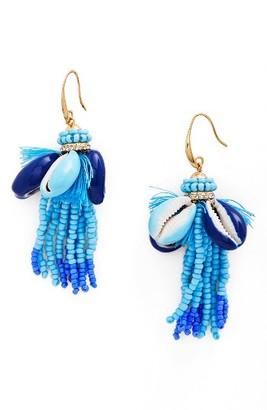 Women's Rebecca Minkoff Lola Seed Bead Tassel Earrings $58 thestylecure.com