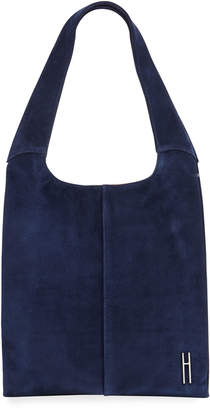 Hayward Medium Grand Suede Shopper Tote Bag, Navy