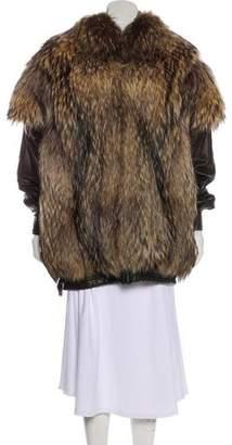 Neiman Marcus Leather Fur Coat
