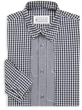 Maison Margiela Overdyed Check Button-Down Shirt