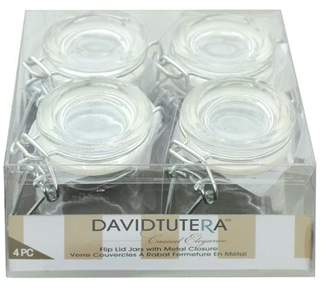 Darice & Catan Floral Darice Glass Jar w/Flip Lid Metal Closure 4pc