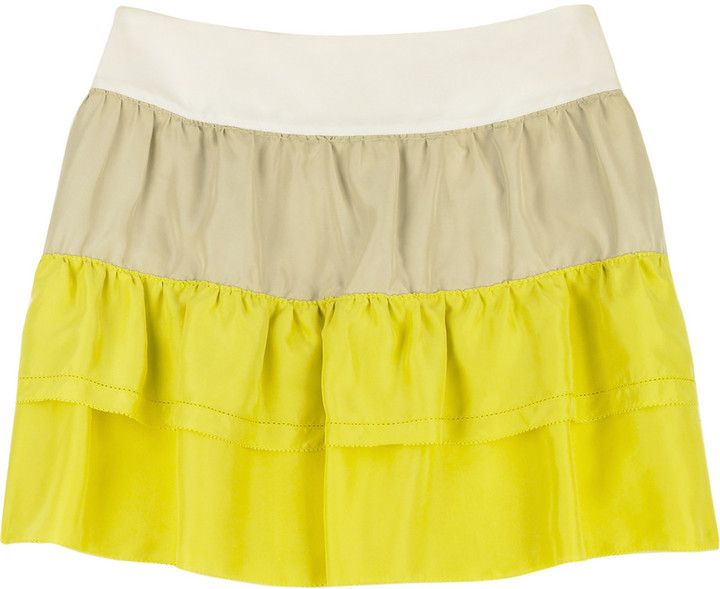 See by Chloé Color block tiered skirt