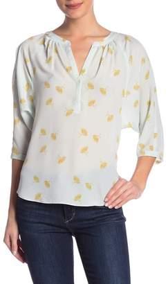 Joie Yareli 3\u002F4 Length Sleeve Printed Blouse