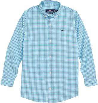 Vineyard Vines Poplin Plaid Whale Shirt