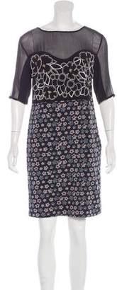 Megan Park Embellished Silk Dress
