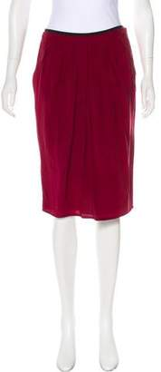 Valentino Knee-Length Silk Skirt