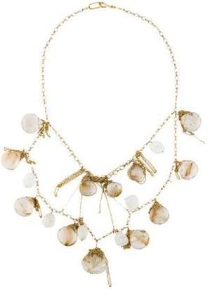 18K Rutilated Quartz & Moonstone Necklace