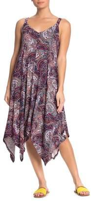 Spense Sleeveless Handkerchief Midi Dress