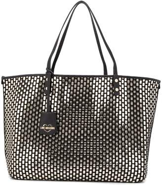 Love Moschino black and gold tote bag