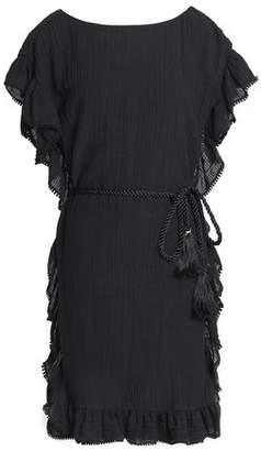 Rachel Zoe Ruffled Cotton And Linen-Blend Mini Dress