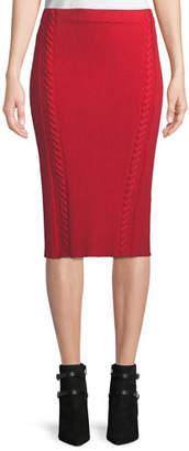 Rag & Bone Brandy Rib-Knit Midi Pencil Skirt