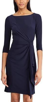 Chaps Women's Knot-Front Ruffle Sheath Dress