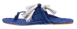 Figue Suede Tassel Sandals