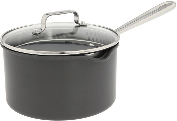 Emerilware Emeril - Hard Anodized 3 Qt. Sauce Pan (Black) - Home