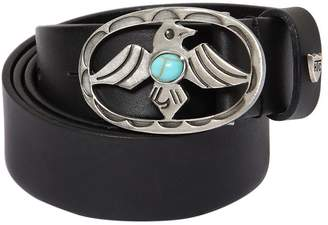 30mm Smooth Leather Belt W/ Eagle Buckle