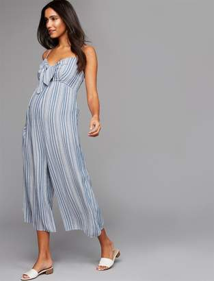 A Pea in the Pod No Belly Cotton Woven Wide Leg Maternity Pants