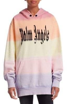 Palm Angels Gothic Rainbow Hoodie