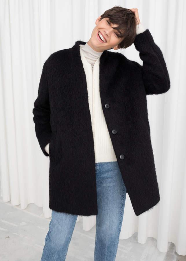 Wool Blend Boxy Coat