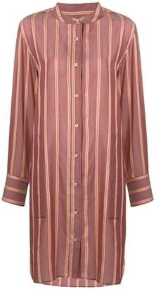 Etoile Isabel Marant striped collarless shirt dress