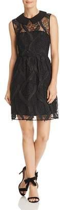 Nanette Lepore nanette Sleeveless Embroidered-Mesh Dress