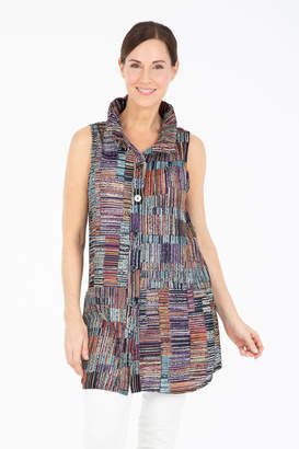 Damee Colorful Button-Up Vest