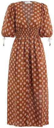 Zimmermann Primrose Shirred Waist Dress