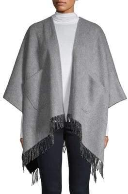 Saks Fifth Avenue Double-Faced Merino Wool Ruana