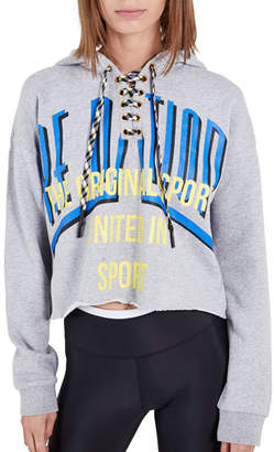 P.E Nation Rocket Shot Cropped Lace-Up Hoodie