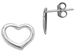 Lord & Taylor 14Kt. White Gold Open Heart Earrings $100 thestylecure.com