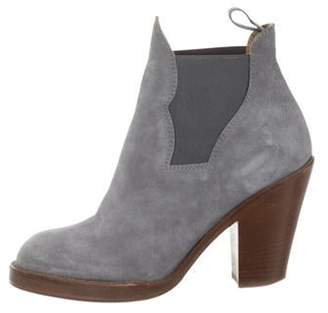Acne Studios Suede Ankle Boots Grey Suede Ankle Boots