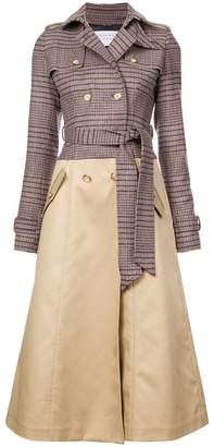 Gabriela Hearst buttoned midi trench coat