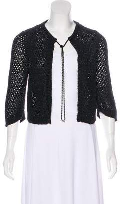 Chanel Open Knit Chain-Link Cardigan