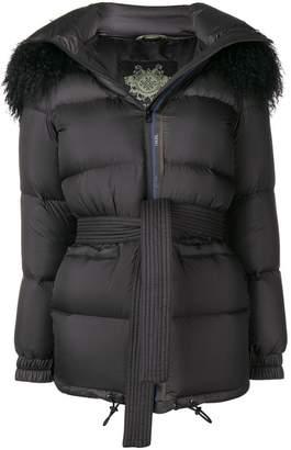 Mr & Mrs Italy short fur trim hood parka