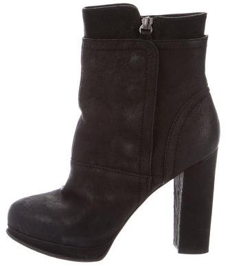 Vera Wang Leather Ankle Boots