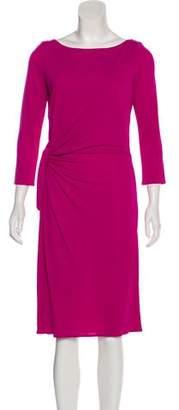 Issa Three-Quarter Sleeve Midi Dress