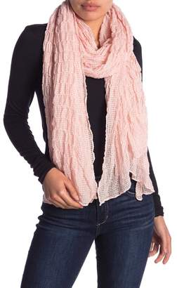 14th & Union Ruched Gingham Scarf