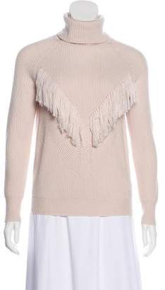 Haute Hippie Turtleneck Fringe Sweater