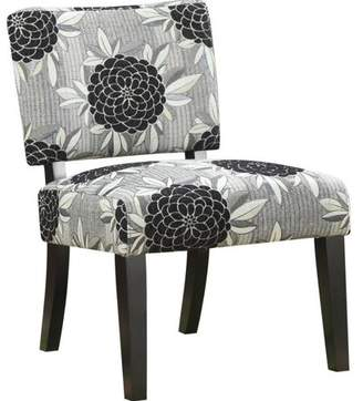 Coaster Company Accent Chair, White/Grey/Black Floral fabric