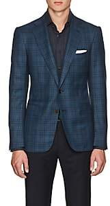 Cifonelli Men's Montecarlo Checked Wool Two-Button Sportcoat-Teal