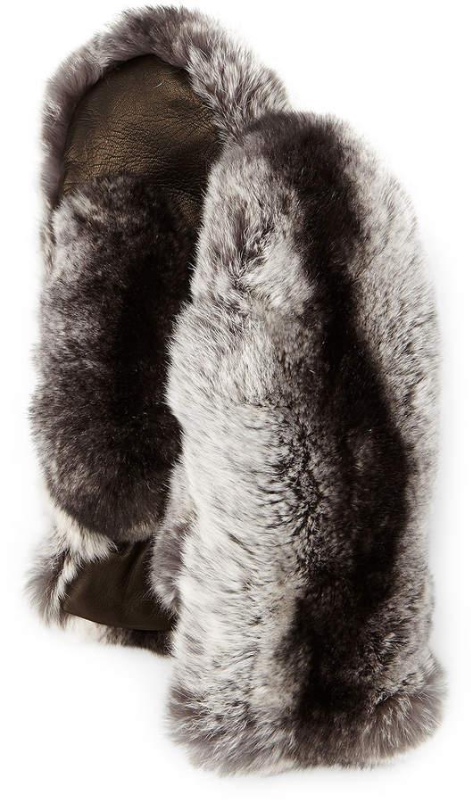 Guanti Giglio Fiorentino Rabbit Fur & Lambskin Mittens