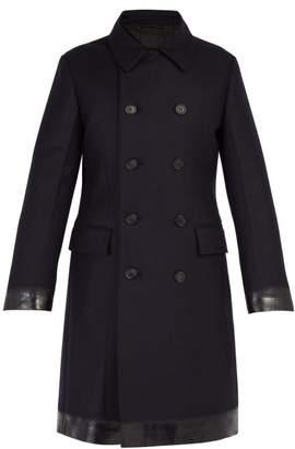 Prada Double Breasted Padded Wool Coat - Mens - Navy