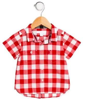 Burberry Boys' Plaid Button-Up Shirt