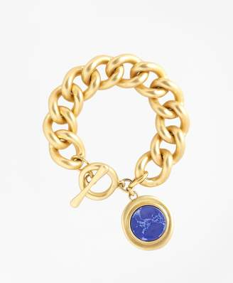 Brooks Brothers Gold-Plated Toggle Pendant Bracelet