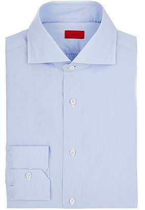 Isaia Men's Cotton Poplin Shirt - Lt. Blue